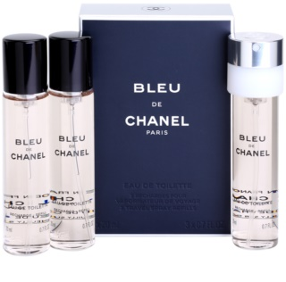 Chanel Bleu de Chanel Eau de Toilette para homens 3 x 20 ml recarga