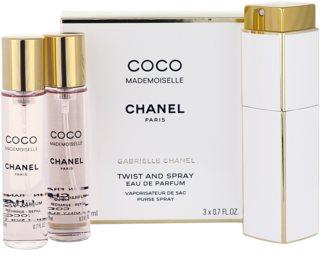 Chanel Coco Mademoiselle parfémovaná voda pro ženy 3x20 ml (1x plnitelná + 2x náplň)