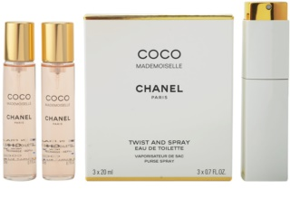 Chanel Coco Mademoiselle Eau de Toilette for Women 3x20 ml (1x Refillable + 2x Refill)