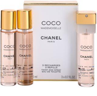 Chanel Coco Mademoiselle eau de toilette para mujer 3x20 ml (3x recambio)