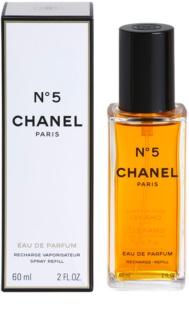 Chanel N°5 eau de parfum pour femme 60 ml recharge avec vaporisateur