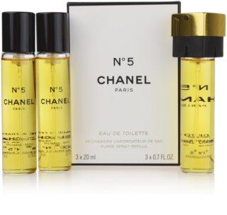Chanel No.5 Eau de Toilette for Women 3 x 20 ml Travel Packaging