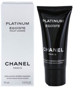 Chanel Égoïste Platinum After Shave-Emulsion für Herren 75 ml