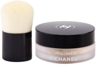 Chanel Vitalumiere pó solto com pincel