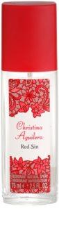 Christina Aguilera Red Sin дезодорант з пульверизатором для жінок 75 мл