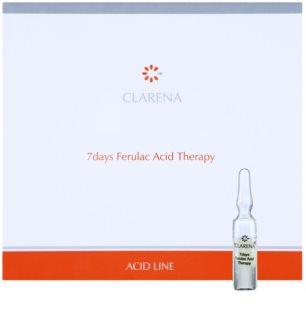 Clarena Acid Line Ferulac 7-dnevna kura proti gubam v ampulah