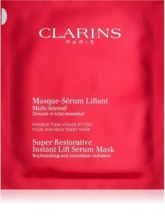Clarins Super Restorative mascarilla reparación para alisar las arrugas en un solo instante