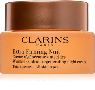 Clarins Extra-Firming συσφικτική κρέμα νύχτας με ανανγεννητική επίδραση για όλους τους τύπους επιδερμίδας