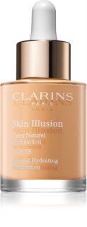 Clarins Face Make-Up Skin Illusion fondotinta idratante illuminante SPF 15