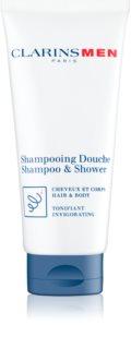 Clarins Men Wash orzeźwiający szampon do ciała i włosów
