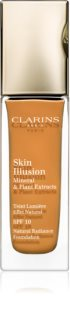 Clarins Face Make-Up Skin Illusion fond de tein illuminateur pour un look naturel SPF 10