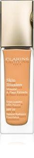 Clarins Face Make-Up Skin Illusion posvjetljujući puder za prirodni izgled SPF 10