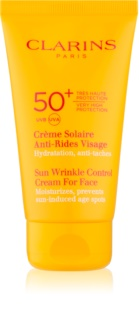 Clarins Sun Protection Sun Wrinkle Control Cream For Face SPF 50+