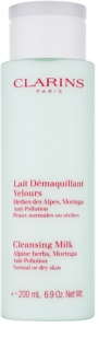 Clarins Cleansers очищуюче молочко з естрактом альпійських трав для нормальної та сухої шкіри