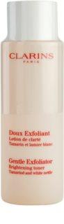 Clarins Exfoliating Care делікатний тонік-ексфоліант для сяючої шкіри