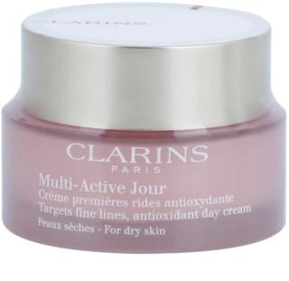 Clarins Multi-Active дневен крем с антиоксидиращ ефект за суха кожа