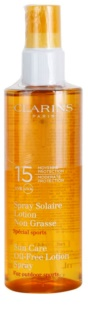 Clarins Sun Protection Sun Care Oil-Free Lotion Spray SPF 15