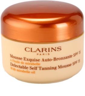 Clarins Sun Self-Tanners samoporjavitvena pena za obraz in telo SPF 15