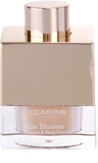 Clarins Face Make-Up Skin Illusion base de maquillaje en polvo suelto para proporcionar un aspecto natural con pincel