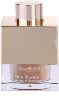 Clarins Face Make-Up Skin Illusion πούδρα μακιγιάζ σε σκόνη για φυσική εμφάνιση με βούρτσα