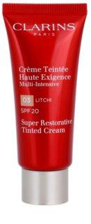 Clarins Super Restorative creme regenerador com cor para as rugas SPF 20
