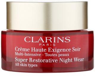 Clarins Super Restorative crema de noche revitalizadora para todo tipo de pieles