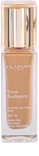 Clarins Face Make-Up True Radiance machiaj de stralucire si hidratare pentru un look perfect SPF 15
