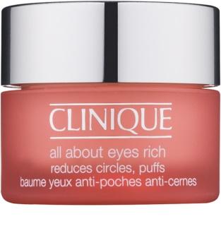 Clinique All About Eyes™ Rich hydratisierende Augencreme gegen Schwellungen und Augenringe