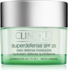 Clinique Superdefense dnevna vlažilna in zaščitna krema za mastno in mešano kožo