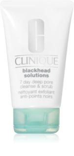 Clinique Blackhead Solutions oczyszczający peeling do twarzy przeciw zaskórnikom