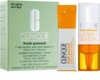 Clinique Fresh Pressed Cosmetic Set 7-day System With Pure Vitamin C