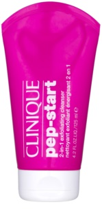 Clinique Pep-Start gel de limpeza esfoliante 2 em 1
