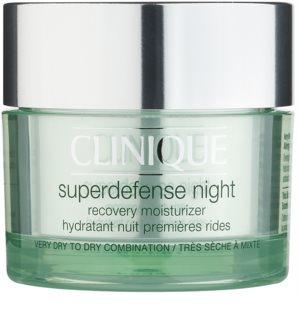 Clinique Superdefense noćna hidratantna krema protiv prvih znakova starenja kože