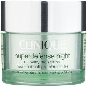 Clinique Superdefense hidratantna noćna krema protiv bora za mješovitu i masnu kožu