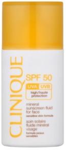 Clinique Sun ásványi napozó folyadék arcra SPF 50