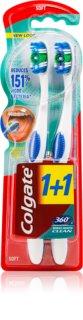 Colgate 360°  Whole Mouth Clean szczoteczki do zębów medium 2 szt.