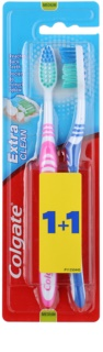 Colgate Extra Clean Zahnbürste Medium 2 pc