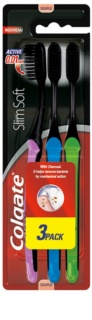 Colgate Slim Soft Active brosses à dents au charbon actif soft 3 pcs