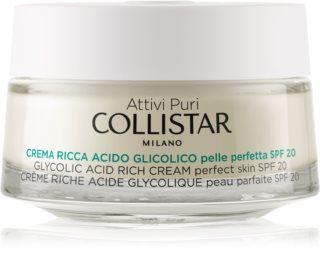 Collistar Pure Actives Glycolic Acid θρεπτική κρέμα γαι ανανέωση της πυκνότητας της επιδερμίδας για φωτεινό αποτέλεσμα