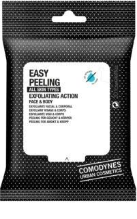 Comodynes Easy Peeling ексфолиращи кърпички за лице и тяло
