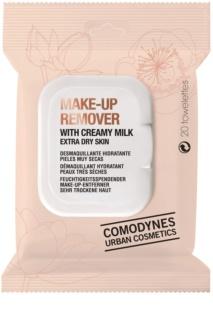 Comodynes Make-up Remover Creamy Milk Make-up Remover Doekjes  voor Zeer Droge Huid