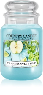 Country Candle Cilantro, Apple & Lime bougie parfumée 652 g