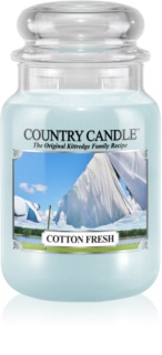 Country Candle Cotton Fresh vela perfumado 652 g