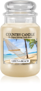 Country Candle Life's a Beach vela perfumado 652 g