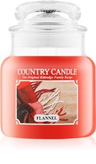 Country Candle Flannel vela perfumada