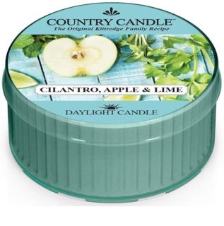 Country Candle Cilantro, Apple & Lime vela do chá 42 g