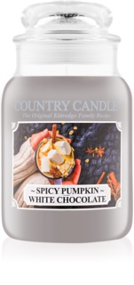 Country Candle Spicy Pumpkin White Chocolate vela perfumada  652 g
