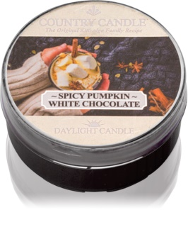 Country Candle Spicy Pumpkin White Chocolate čajová svíčka 42 g