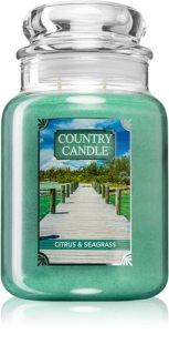 Country Candle Citrus & Seagrass vela perfumada grande