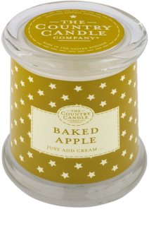 Country Candle Baked Apple Duftkerze    im Glas mit Deckel